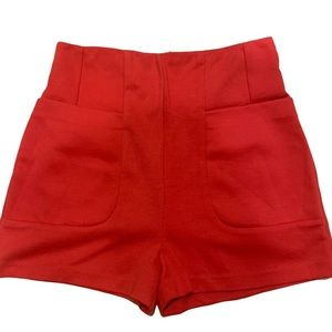 A is for Audrey Red High Waisted Shorts Pockets S
